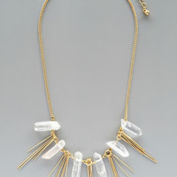 Maya Quartz Statement Necklace