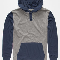 Shouthouse Park City Henley Hoodie Grey  In Sizes