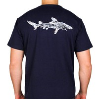 Nantucket Shark Tee in Navy by Blankenship Dry Goods - FINAL SALE