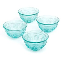The Pioneer Woman Adeline 13 oz Emboss Glass Bowl, Set of 4 - Walmart.com