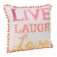 Live Laugh Love Watercolor Pillow