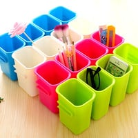 Teethbrush Home Creative Fashion Storage Stylish Multifunction Plastic Korean = 4877811972