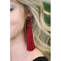 Bead & Fringe Tassel Earrings