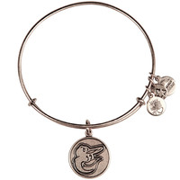 Baltimore Orioles Silver Cap Logo Charm Bangle by Alex and Ani - MLB.com Shop