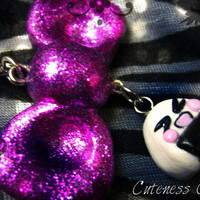 ON SALE - Onigiri and Bow - Cellphone Charm - OOAK