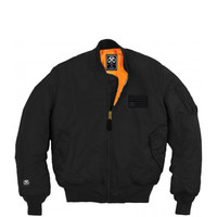 Civil  - Star MA1 Bomber Jacket - Black / Orange