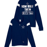 Dallas Cowboys Bling Boyfriend Half-Zip - PINK - Victoria's Secret