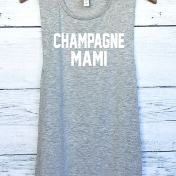 Champagne Mami Drake Muscle Tank Top