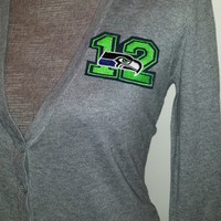 Ladies Seahawks Cardigan