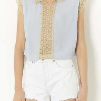 Crochet Trim Blouse - New In This Week  - New In