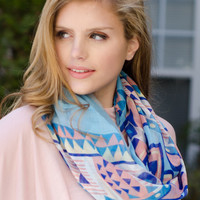 Bright Tribal Infinity Scarf