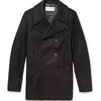 Saint Laurent Wool Peacoat | MR PORTER
