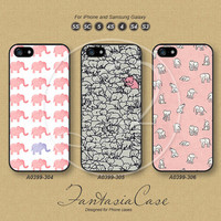 iPhone 5 case, iPhone 5C Case, iPhone 5S case, Pink Elephant, iPhone 4 Case, Phone Cases, Samsung Galaxy S3, Samsung Galaxy S4, FA0399