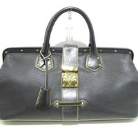 Auth LOUIS VUITTON Lingenieux GM M91804 Noir Suhali CE0033 Boston Bag