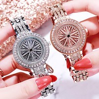 Fashionable new style ladies full diamond temperament watch