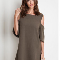 Love You With Olive My Heart Dress - Olive