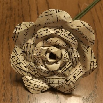 Music Note Paper Flower Rose