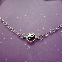 Tiny Yin Yang necklace
