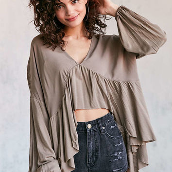 Ecote Greenly High/Low Blouse - Urban Outfitters