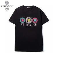 Versace new personality men's and women's round neck short-sleeved T-shirt top