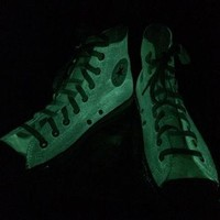 Kids Glow in the Dark Converse Shoes Halloween Shoes High Top Glow-in-the-Dark Convers