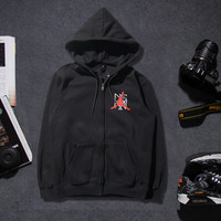Casual Sports Cotton Basketball Hats Zippers Hoodies Jacket [9302716295]