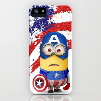 The Avengers Despicable me minion Captain America iPhone & iPod Case by Pointsalestore