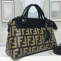 FENDI Women Leather Handbag Tote Shoulder Bag Crossbody Satchel