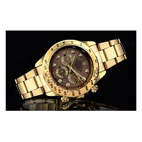 Rolex three fashionable tide brand watches F-SBHY-WSL  Gold + gold case + brown dial