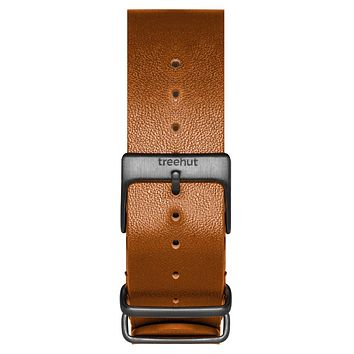 20mm Light Brown NATO Leather band