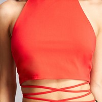 Lace-Up Halter Top