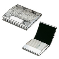Visol Python Black & White Cigarette Case-11 Regular Size Cigarettes