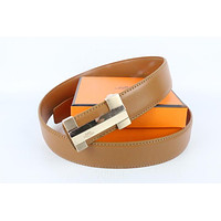 Hermes belt men's and women's casual casual style H letter fashion belt92