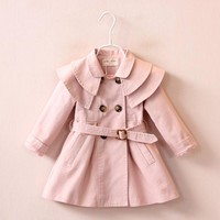 Trendy Fashion Trench Jackets for Newborn Girl Children's Clothes Warm Spring Outerwear Coats Autumn Infant babies Girls Clothing 2017 AT_94_13