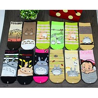 Spring New Fashion Casual Women Socks Cute Cartoon Totoro Socks Girls Kawaii Socks