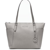 Jet Set Large Top-Zip Leather Tote | Michael Kors