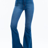 Classic High-Waisted Flared Jeans