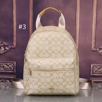 COACH 2018 new retro college large capacity men and women trend travel backpack #3