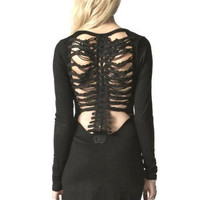 Premonition Designs — Vertibrae Back Body Con Dress - Black