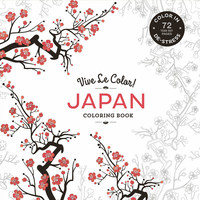 Vive Le Color Japan Adult Coloring Book 72 Designs