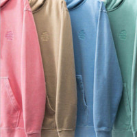 ANTI SOCIAL CLUB three-dimensional embroidery Kan loose loose solid color wool assc hooded sweater