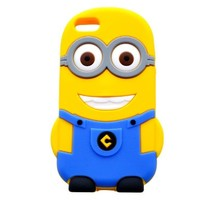 T&J Exclusives Despicable Me 3D Silicone Case Cover for iPhone 5 / 5S (Blue, 2 eye):Amazon:Sports & Outdoors