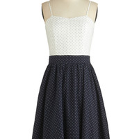 ModCloth Long Spaghetti Straps A-line Lovely Locale Dress