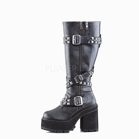 Assault 203 Knee High Platform Combat Boot