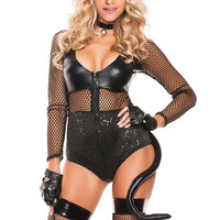 Sexy Midnight Women Halloween Cat Costume