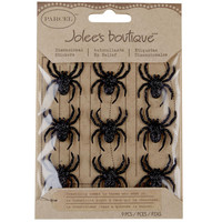 Jolee's Boutique® Parcel™ Glitter Spiders Stickers
