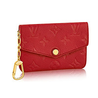 Louis Vuitton Monogram Empreinte Leather Key Pouch Cherry Article: M60634