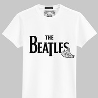 Beatles words rock T-shirt