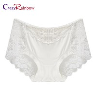 Women underwear briefs women's Panties full transparent lace string plus size women underwear panty
