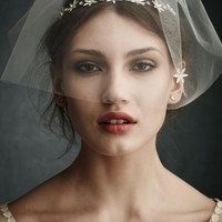North Star Blusher Veil in  the SHOP Attire Hair Adornments at BHLDN